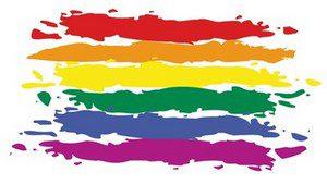 Bandes aux couleurs du drapeau arc-en-ciel