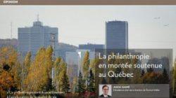 La philanthropie en montée soutenue au Québec