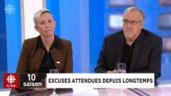 Laurent McCutcheon et Martine Roy en entrevue avec Anne-Marie Dussault à <em>24/60</em> (RDI)